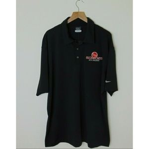 NEW Nike XL Golf Polo Shirt Black Short Sleeve